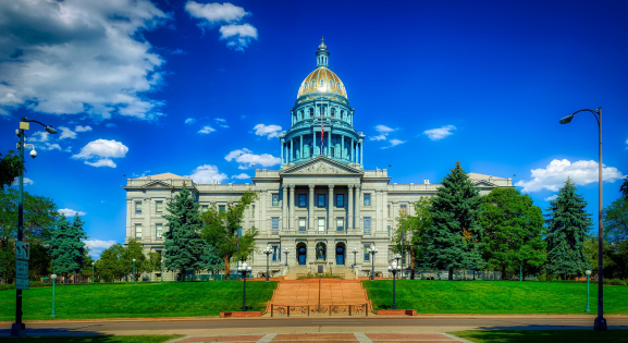 Colorado State Capitol on a sunny day