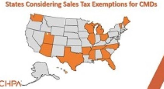 A Map of States Considering Exemptions for CMDs