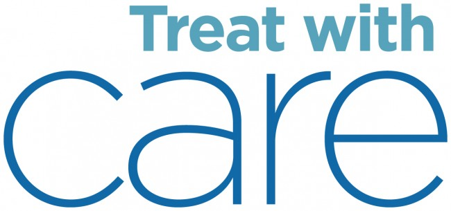 Treat with Care Logo White Background